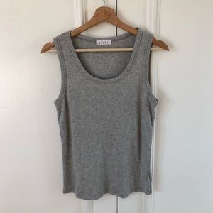 Anthropologie LACAUSA Chambray Tank Top